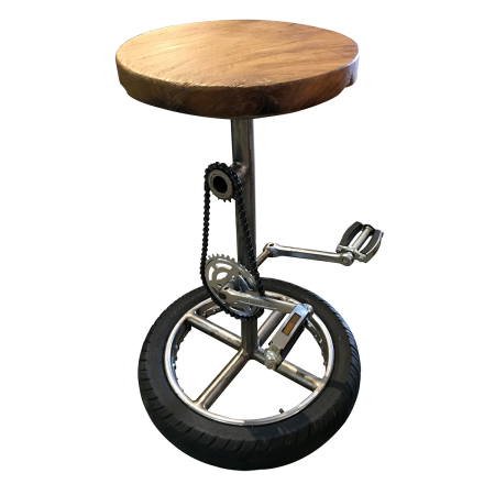 C51 Bicycle Bar Stool - Teak