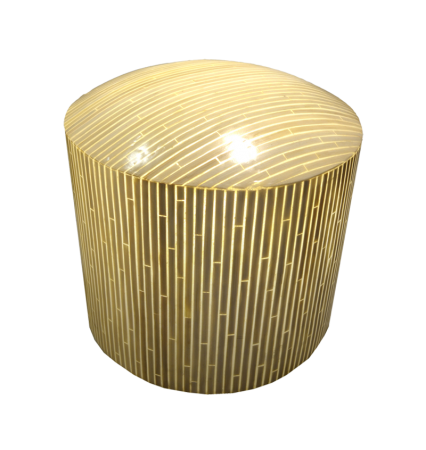 L18 Wicker Outdoor Stool Lamp - Fibreglass