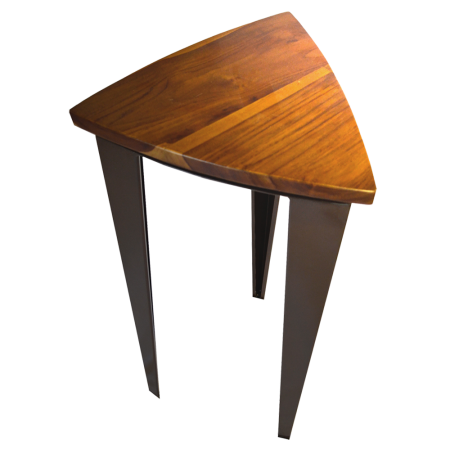 S05 Triangle Bar Stool - Teak+Metal