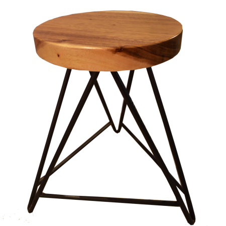 S15 Round Stool A - Metal Base