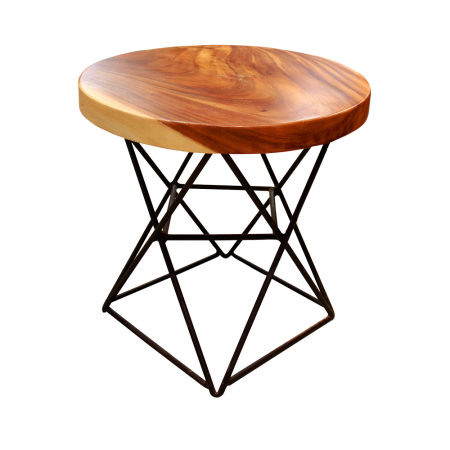 S18 Round Stool C - Metal Base