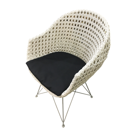 C60 Rattan Chair 3 - Aluminium Base
