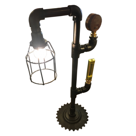 L47 Pipes Table Lamp 2 - Metal