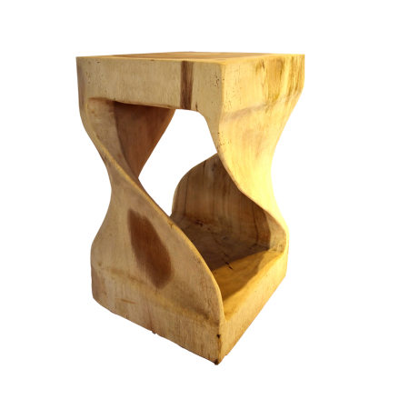 S11 Square Wavy Stool - Wood