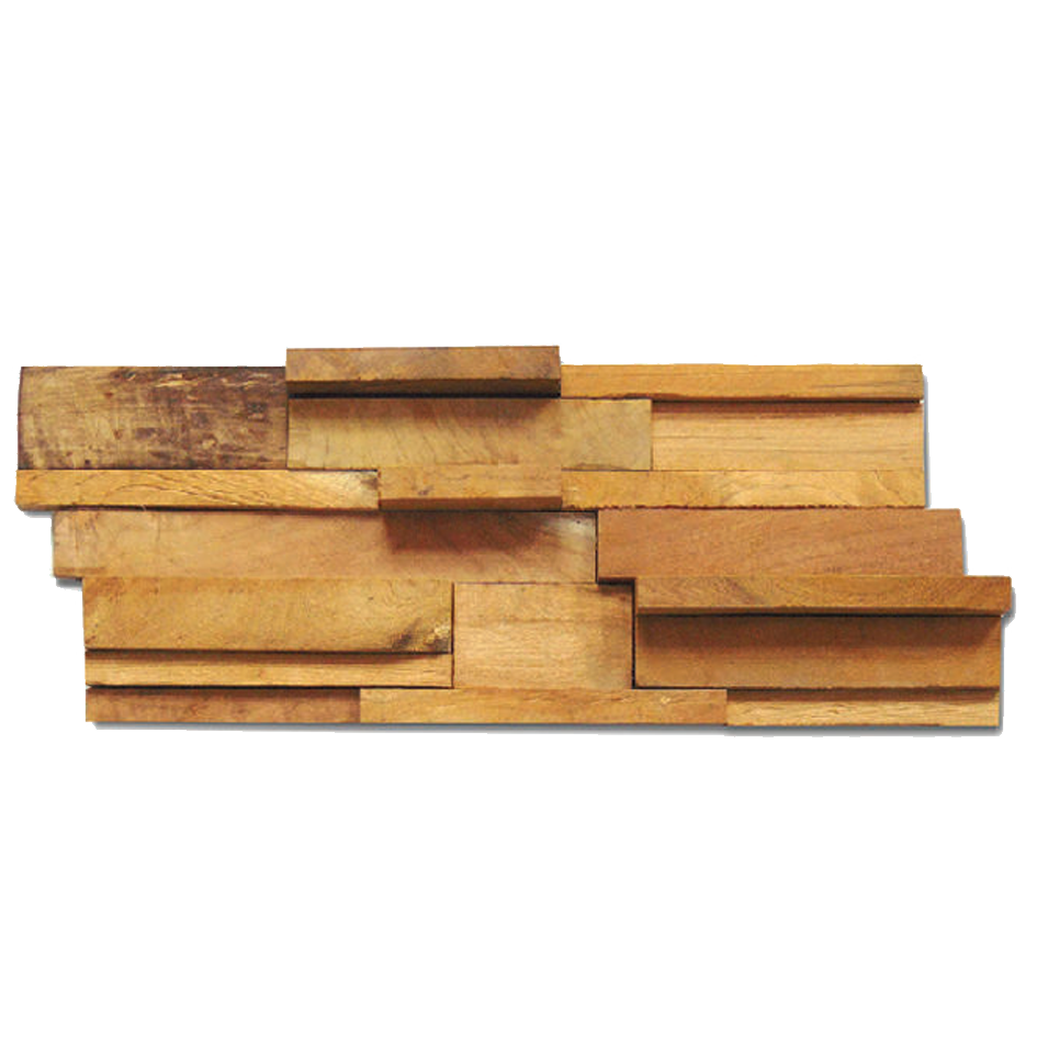 Wped 002 Recycle Teak Wood Rustic Mix 2x4cm Wall Panel