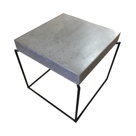 T85 Square Side Table A - Concrete d48