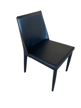C97 Dining Chair - Black PU Leather